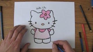 getlinkyoutube.com-How To Draw Hello Kitty