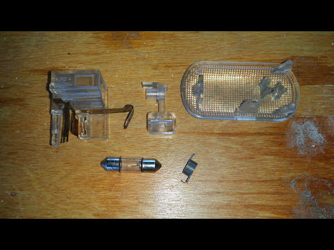 Сборка плафона бардачка Volkswagen Passat B5/Фольксваген Пассат Б5