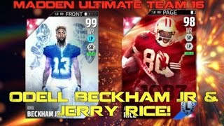 99 OBJ & Jerry Rice Can't Be Stopped! CRAZIEST GAME! Madden Ultimate Team 16
