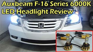 getlinkyoutube.com-Auxbeam F-16 Series 6000K 30W LED Headlight Bulb Review
