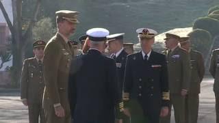 S.M. el Rey visita las unidades de la Base Militar de Retamares, ubicada en Pozuelo de Alarcón