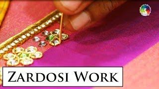 getlinkyoutube.com-Zardosi Work Embroidery Making HD Video | Indian Hand Embroidery