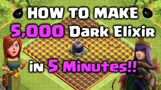 getlinkyoutube.com-How to Farm 5,000 Dark Elixir in 5 Minutes!! Clash of Clans - DE Farming Strategy