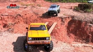 getlinkyoutube.com-Highlights: Scale RC Trucks Offroad Adventures Honcho 6x6 AEV Jeep Brute TF2 hilux Defender 110
