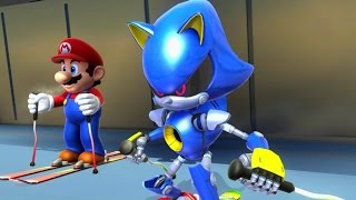 getlinkyoutube.com-Mario & Sonic at the Sochi 2014 Olympic Winter Games - Racing Medley