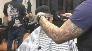 How to do a Hakeem Lyon of empire style cut with design | by Sneed da barber