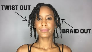 getlinkyoutube.com-THE DIFFERENCE between a TWIST-OUT and a BRAID OUT