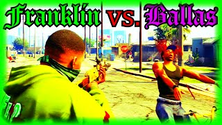 getlinkyoutube.com-GTA 5 Franklin vs. Ballas (Grove St. Shootout)