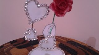 getlinkyoutube.com-Best Out Of Waste Plastic  Fabulous Valentine Heart Showpiece