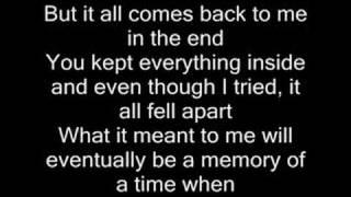 getlinkyoutube.com-In the end - Linkin Park (with lyrics)