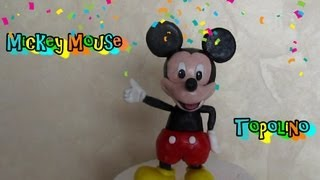 getlinkyoutube.com-Mickey Mouse in fondant tutorial Come fare Topolino in pasta di zucchero