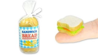 Miniature edible Sandwich Bread - Mini Sandwich DIY - Food - YolandaMeow♡