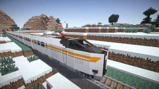 getlinkyoutube.com-TrainCraft -Electric locomotive  Ride- Minecraft HD 1080p