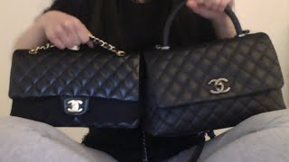 getlinkyoutube.com-Chanel Coco Handle Bag Review/Comparison with Classic Flap
