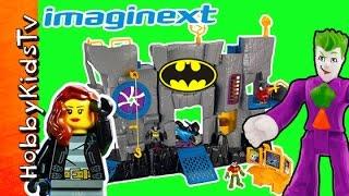 getlinkyoutube.com-Batman Imaginext Batcave Trixie Robin Joker Two Face Riddler by HobbyKidsTV