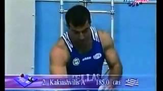 getlinkyoutube.com-Kakhi Kakhiashvili  World Record 188 Kg, Athens, 1999