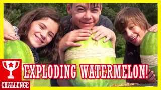 getlinkyoutube.com-EXPLODING WATERMELON CHALLENGE!  |  KITTIESMAMA