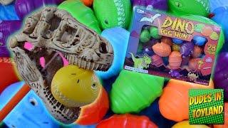 getlinkyoutube.com-DINO EGG HUNT Easter surprise dinosaur eggs toys videos for kids