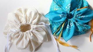 getlinkyoutube.com-DIY ** Petal drawstring bag tutorial, by hand sewing. **