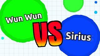 getlinkyoutube.com-WUN WUN vs. SIRIUS // Official Agario Battle // Agar.io Solo Gameplay