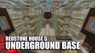 Minecraft: Epic Underground Base (Redstone House #5)