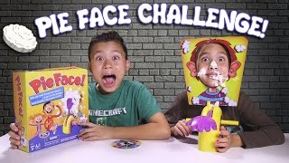 getlinkyoutube.com-PIE FACE CHALLENGE!!! Messy Whipped Cream in the FACE Game!
