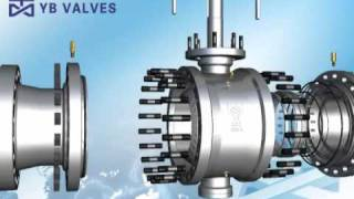 getlinkyoutube.com-Cast Steel Trunnion Mounted Ball Valve.avi