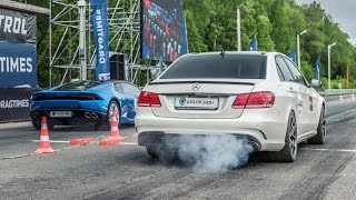 getlinkyoutube.com-Mercedes E63 AMG vs Lamborghini Huracan vs BMW M6