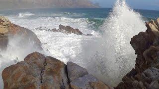 getlinkyoutube.com-1 hour video of big ocean waves crashing into rocky shore - natural ocean wave sounds - HD 1080P