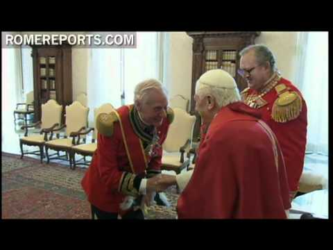 Pope meets with Grand Master Fra' Matthew Festing from Order of Malta