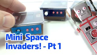 getlinkyoutube.com-2005 WORKING MINI SPACE INVADERS Cocktail Cabinet Arcade Machines by Epoch of Japan