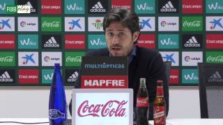 Rueda de prensa de Víctor Sánchez del Amo previa al partido contra ...
