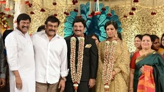 getlinkyoutube.com-Mega star Chiranjeevi at Rajendra Prasad Son Wedding Reception