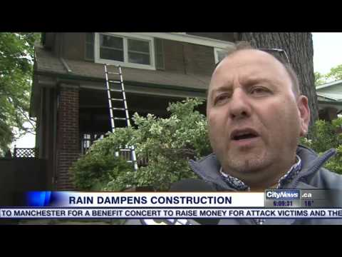 Video: Heavy rains stalling construction projects