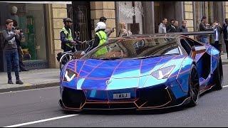 getlinkyoutube.com-Liberty Walk Lamborghini Aventador in London!!! - Start ups, Sounds & Details!