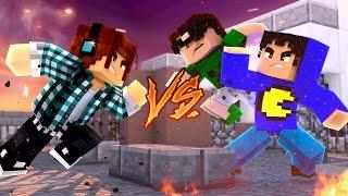 Minecraft: YOUTUBER VS YOUTUBER  - ( 100 Desafios #3 )