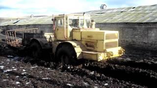 getlinkyoutube.com-К-700 А по полуметровой грязи.