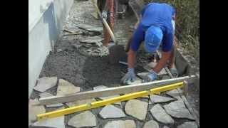 getlinkyoutube.com-Placare alei cu piatra sparta de munte