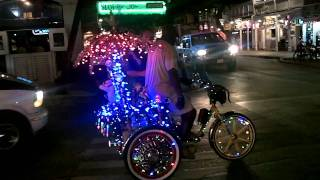 getlinkyoutube.com-Lighted Disco Bicycle, Duval Street, Key West, Florida