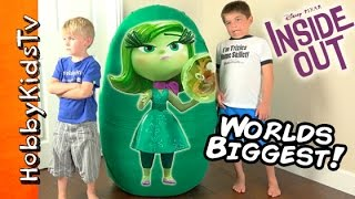 Worlds BIGGEST DISGUST Surprise Egg! Inside Out Toys Disney + Uggly Dogs by HobbyKidsTV