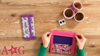 getlinkyoutube.com-Duct Tape School Supplies Case Craft | American Girl