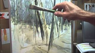 getlinkyoutube.com-Oil Painting demo with Mike Pintar_ How to paint snow and trees