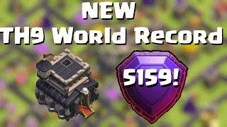 NEW TH9 World Record!  5159 cups/trophies LEGEND | Quantum´s 8.9 |