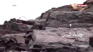 """مقاتل يمني يصرخ """"يا سعوديين خلوا الذخيرة إحنا بحاجتها"""" دقيقة 8:25"""