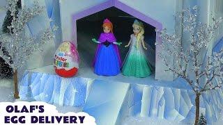 getlinkyoutube.com-Kinder Surprise Disney Princess Zaini Eggs Frozen Olaf Barbie Hello Kitty Anna Elsa Belle Cinderella
