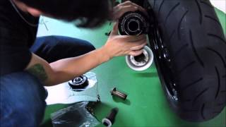 getlinkyoutube.com-BMW R nineT Exhaust Tips / End-CAP Cover Easy and Fast to Install tutoring by Dakar Design