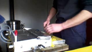 getlinkyoutube.com-Dadant home made beeswax foundation press.
