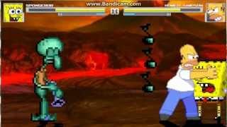 getlinkyoutube.com-TMS Mugen Battle #5 - Spongebob vs Homer Simpson