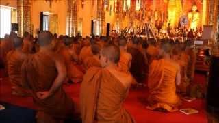 Priere Bouddhiste à Chiang Mai ( Temple Wat Chedi Luang )