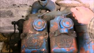 getlinkyoutube.com-Lister ST2 first start in 15+ years hand crank 12hp 1500rpm diesel 1270cc